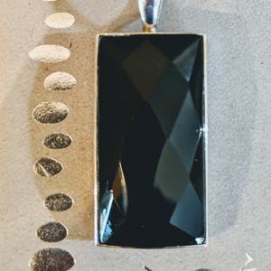 Silpada Jewelry - Silpada Black onyx Faceted pendant only. S1252
